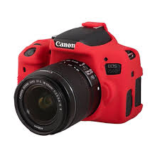EasyCover Camera Case For Canon 750D / T6i red